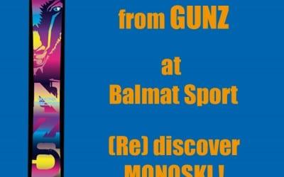Monoski GUNZ Snowgun in Les Houches